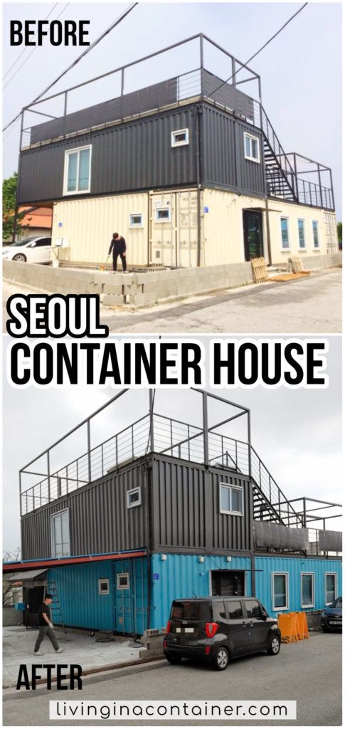 Container House Located in the Seaside Village of Seoul