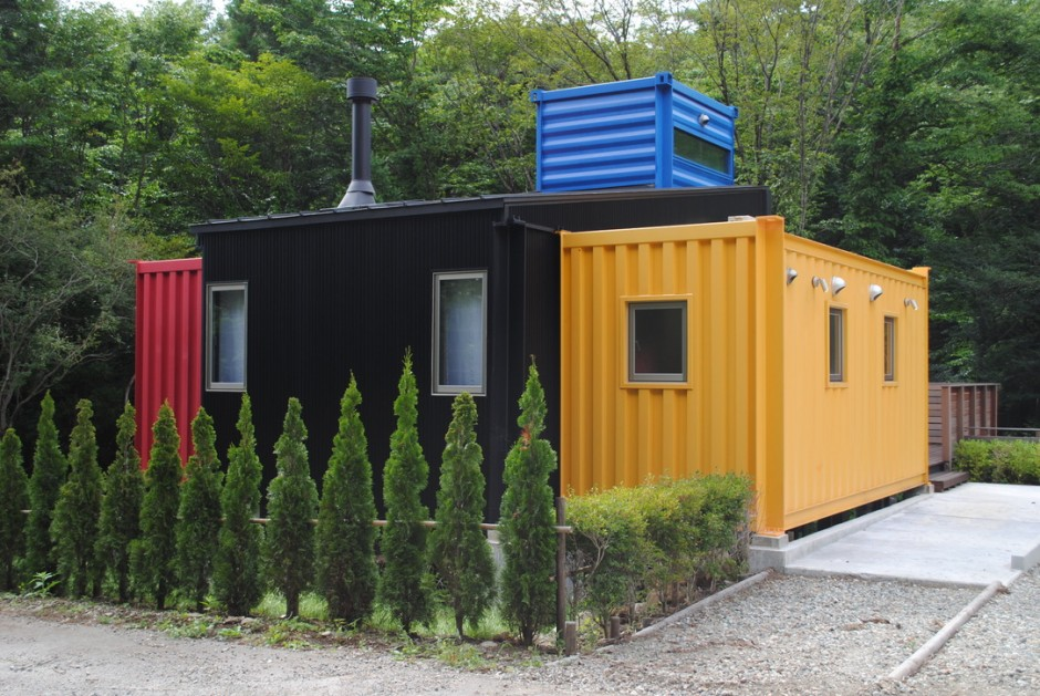 Container House Which Attracts Attention with its Design and Colors 1