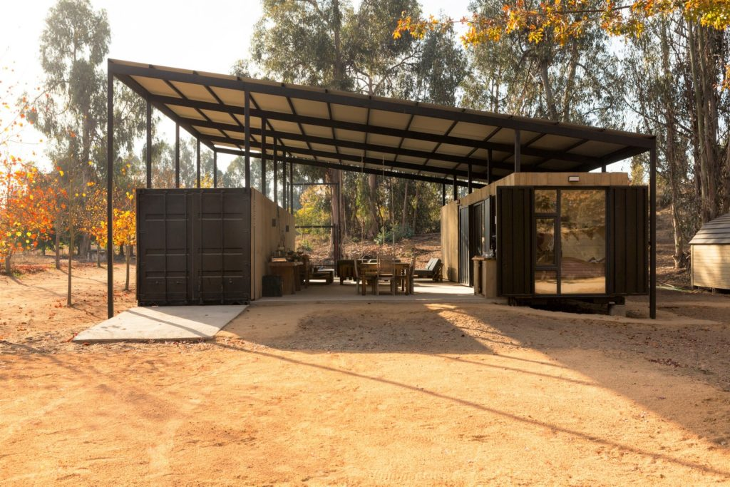 Conversion of Shipping Containers to Wonderful Home in Chile 1