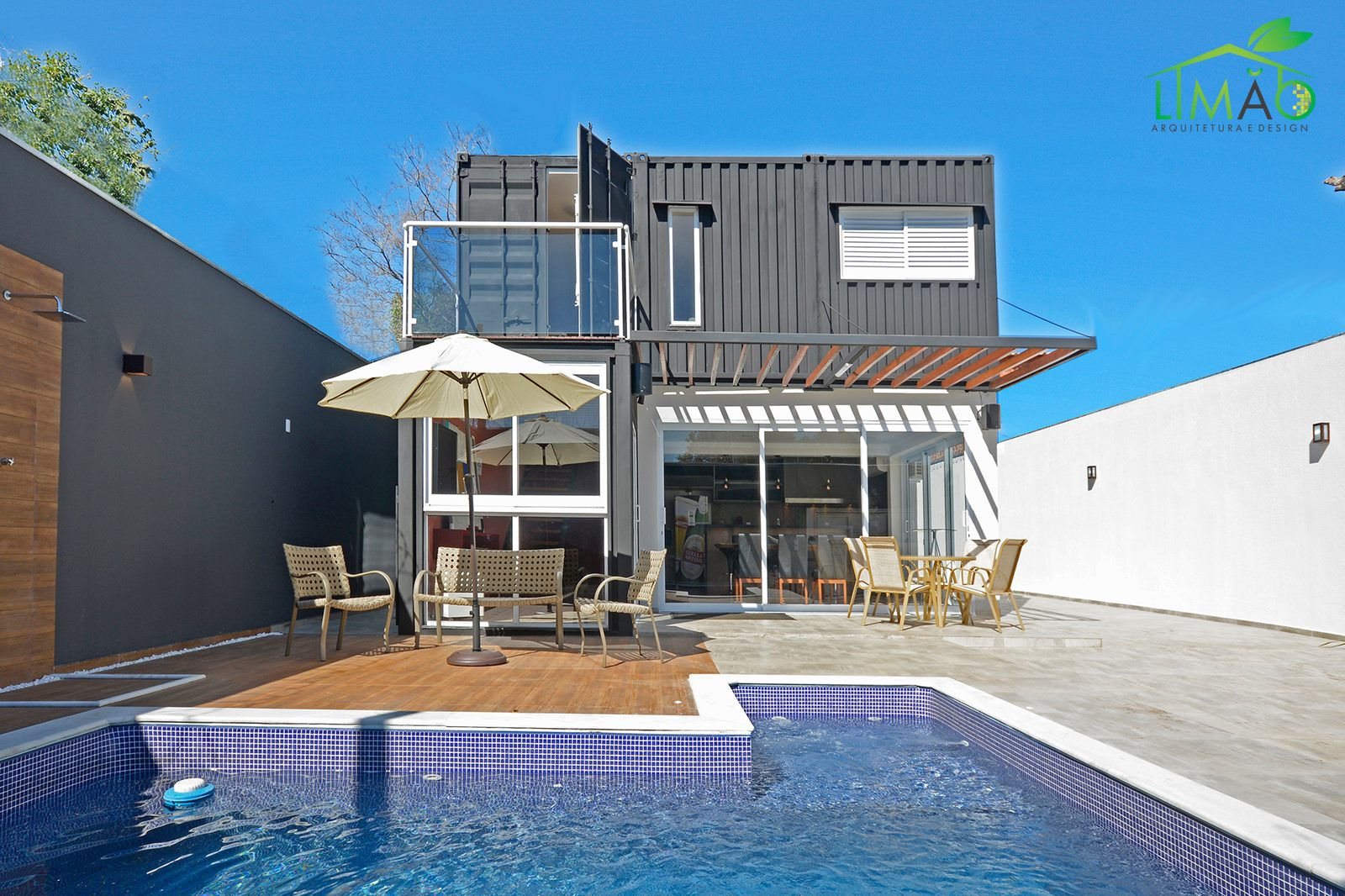 Cool Valley Container House from Brazil 21
