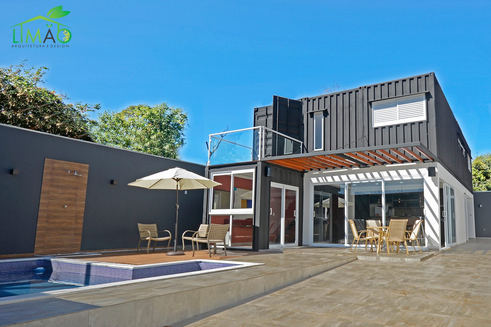 Cool Valley Container House from Brazil 23