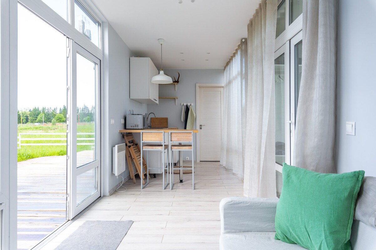 Stylish Small and Very Cozy House from the Sea Container in Moscow 11