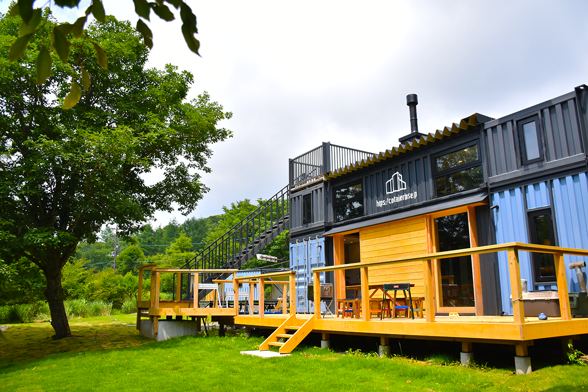 Wonderful Container House in the Unique Nature of Japan 1