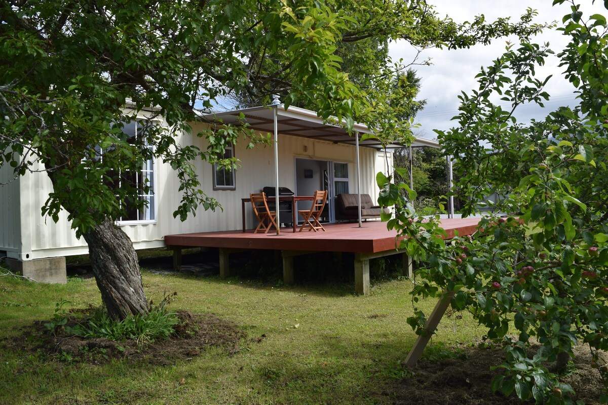Wonderful Deck Container House in the New Zealand Forest 3