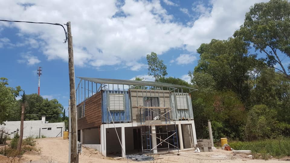 Wooden Covered Container House from Uruguay 1