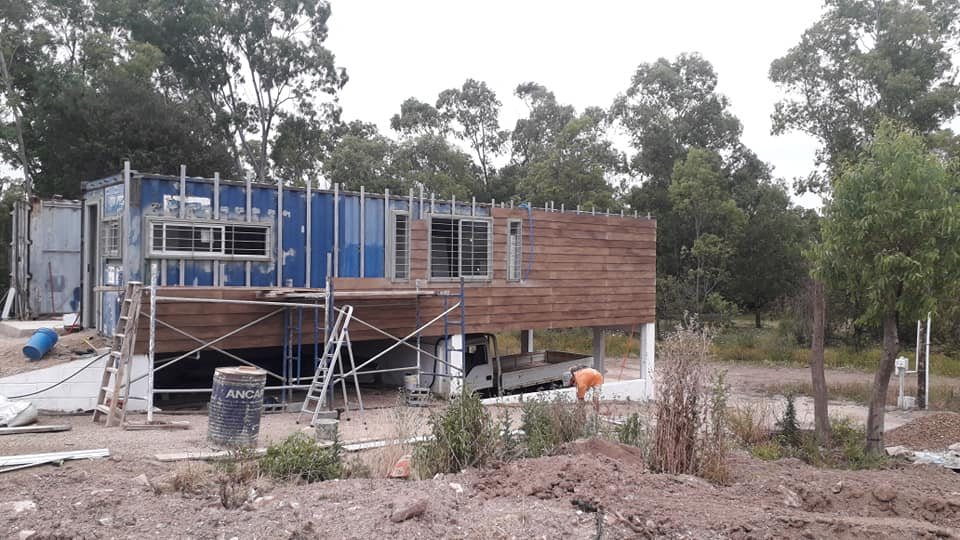 Wooden Covered Container House from Uruguay 4