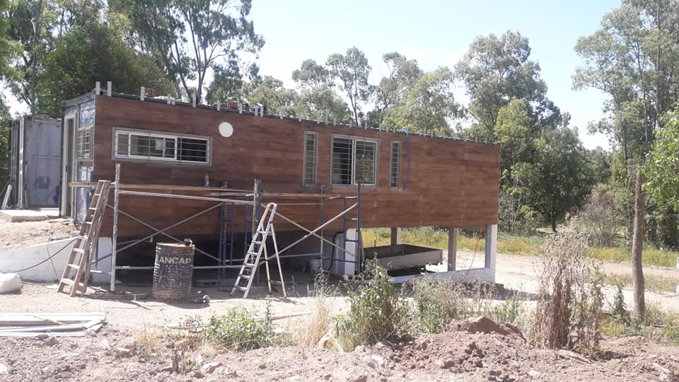 Wooden Covered Container House from Uruguay 7